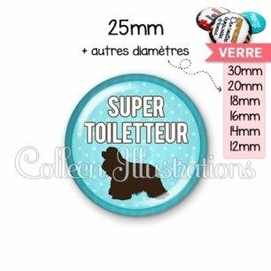 Cabochon en verre Super toiletteur (035BLE01)