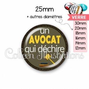 Cabochon en verre Avocat qui déchire (035MAR01)