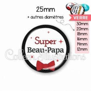 Cabochon en verre Super beau-papa (036NOI01)