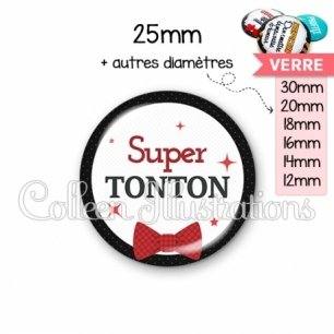 Cabochon en verre Super tonton (036NOI01)