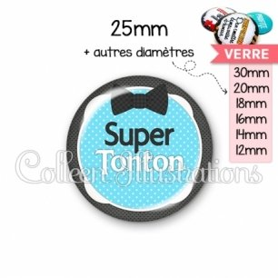 Cabochon en verre Super tonton (037BLE02)