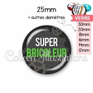 Cabochon en verre Super bricoleur (038GRI01)
