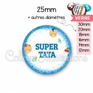 Cabochon en verre Super tata (044BLE02)