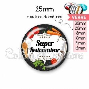 Cabochon en verre Super restaurateur (045NOI02)