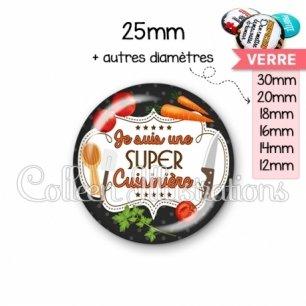 Cabochon en verre Super cuisinière (045NOI03)