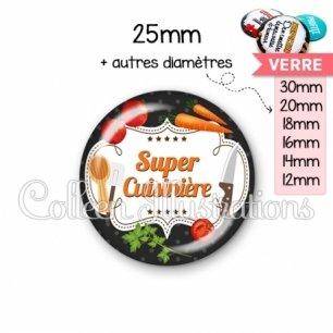 Cabochon en verre Super cuisinière (045NOI05)