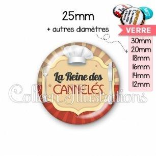 Cabochon en verre La reine des cannelés (048MAR01)