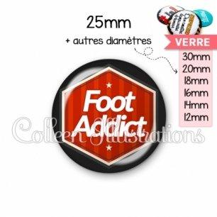 Cabochon en verre Foot addict (055ROU01)