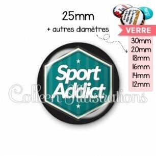 Cabochon en verre Sport addict (055VER01)