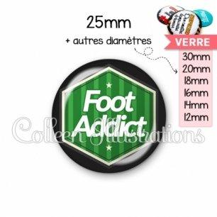 Cabochon en verre Foot addict (055VER02)