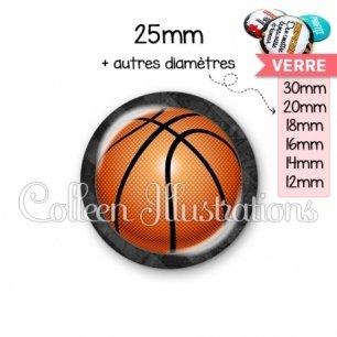 Cabochon en verre Basket (062GRI01)