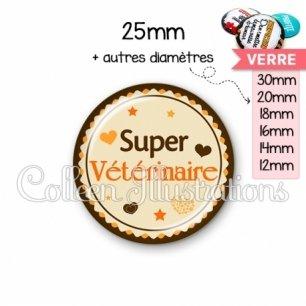 Cabochon en verre Super vétérinaire (064MAR01)