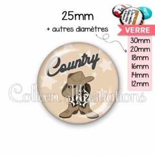 Cabochon en verre Danse country (071MAR01)