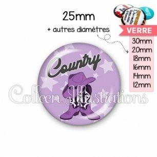Cabochon en verre Danse country (071VIO01)