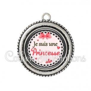 Pendentif résine Princesse (005ROS01)