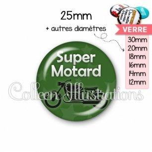 Cabochon en verre Super motard (078VER07)