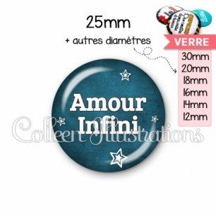 Cabochon en verre Amour infini (079BLE01)