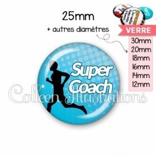 Cabochon en verre Super coach (082BLE01)