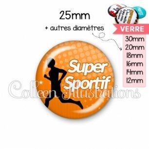 Cabochon en verre Super sportif (082ORA01)