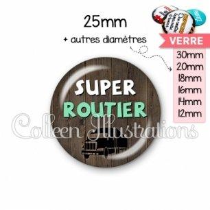 Cabochon en verre Super routier (086MAR01)