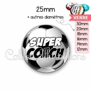 Cabochon en verre Super coach (089MUL01)