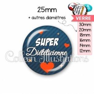 Cabochon en verre Super diététicienne (103BLE01)