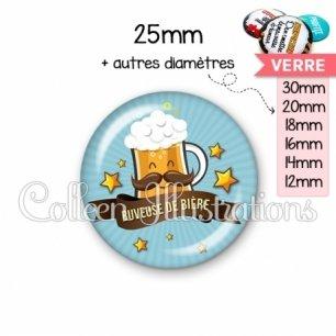 Cabochon en verre Buveuse de bière (106BLE01)