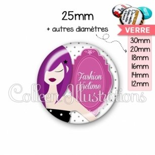 Cabochon en verre Fashion victime (110BLA01)