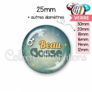 Cabochon en verre Beau gosse (134VER01)