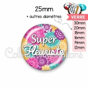 Cabochon en verre Super fleuriste (140MUL01)