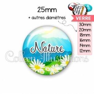 Cabochon en verre Nature (145MUL01)