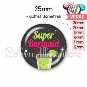 Cabochon en verre Super barmaid (157GRI01)