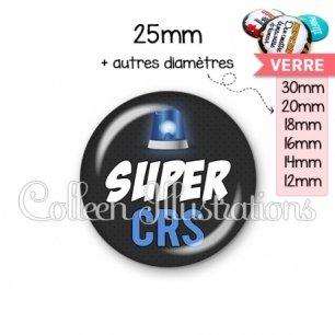 Cabochon en verre Super CRS (162GRI01)