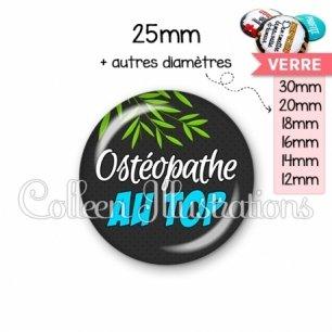 Cabochon en verre Ostéopathe au top (165GRI01)
