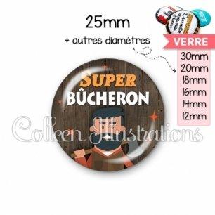 Cabochon en verre Super bûcheron (170MAR01)