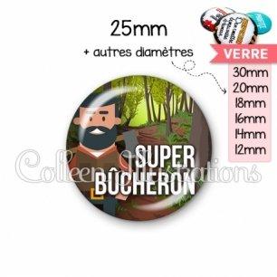 Cabochon en verre Super bûcheron (171MUL01)