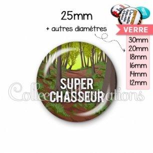 Cabochon en verre Super chasseur (171MUL02)