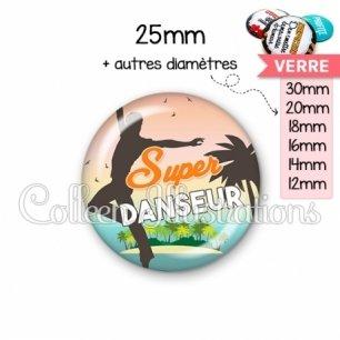 Cabochon en verre Super danseur (176MUL01)