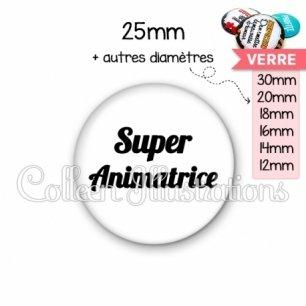Cabochon en verre Super animatrice (181BLA11)