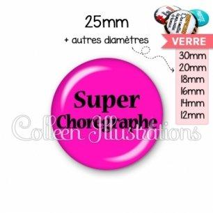 Cabochon en verre Super chorégraphe (181ROS01)