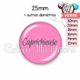 Cabochon en verre Caprichieuse (181ROS06)