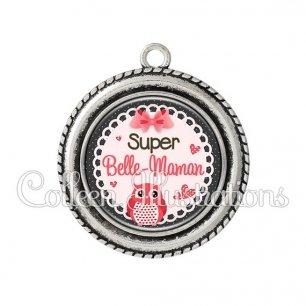 Pendentif résine Super belle-maman (005ROS02)
