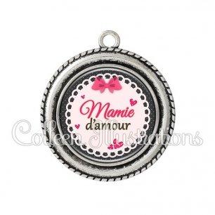 Pendentif résine Mamie d'amour (005ROS04)