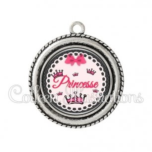 Pendentif résine Princesse (005ROS04)