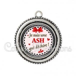 Pendentif résine ASH qui déchire (005ROU01)