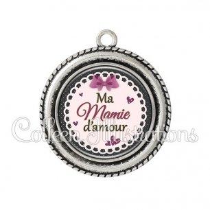 Pendentif résine Mamie d'amour (005VIO01)