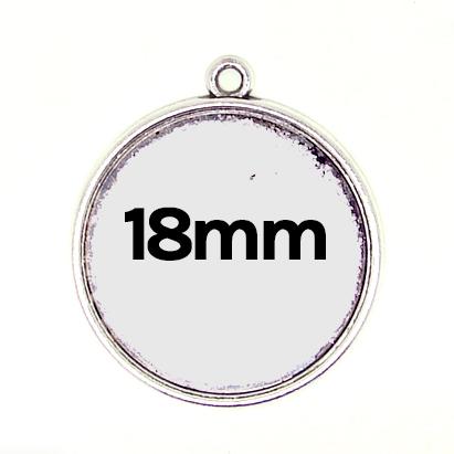 Pendentif simple 18mm